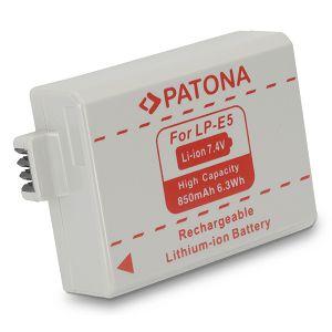 Patona LP-E5 850mAh 7.4V baterija za Canon EOS 500D 450D 1000D LPE5 Lithium-Ion Battery Pack