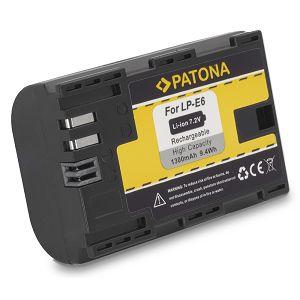 Patona LP-E6 1300mAh 7.2V 9.4Wh baterija za Canon EOS 6D, 70D, 5D III, 5D II, 60D, 7D, 7D II, 5Ds, 60Da LP-E6N LPE6 with new InfoChip