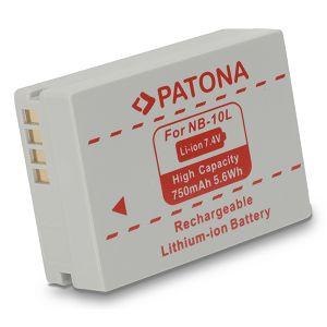 Patona NB-10L baterija za Canon Powershot SX40 HS, SX-40HS SX40HS, SX50 HS, G15, G16, G1X, SX40 IS, G3X 750mAh