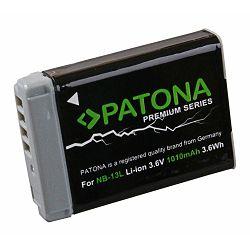 Patona NB-13L Premium 1010mAh 3.6Wh 3.6V baterija za Canon PowerShot G7x II, G9x II, G5x, G3x, G7x, G9x, SX720 HS Lithium-Ion Battery Pack