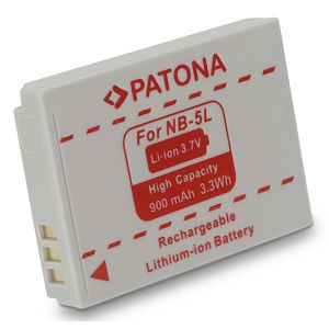 Patona NB-5L NB5L 900mAh 3.7V 3.3Wh baterija za Canon Ixus 800is, 850is, 90IS, Powershot SD700, SX200 IS