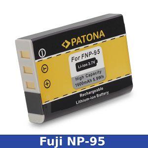 Patona NP-95 1600mAh 3.7V 5.9Wh baterija za Fujifilm Fuji X-100S, X-100, X-S1, F-30, F-31, F-31FD, W1, NP95