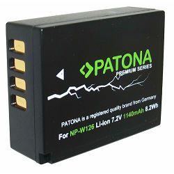 Patona NP-W126S Premium 1140mAh 8.2Wh 7.2V baterija za Fujifilm NP-W126 za Fuji X-T10, X-T2, X-A2, X-E1, X-E2, X-M1, X-T1, X-A1, X-Pro1, HS30EXR, HS33EXR