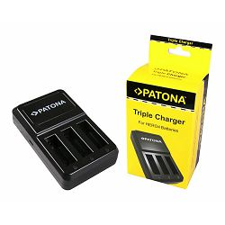 Patona punjač za GoPro Hero4 USB Triple Charger + Mini-USB cable za AHDBT-401