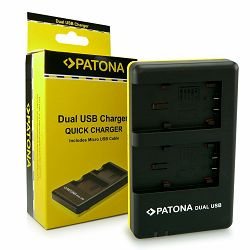 Patona punjač za Panasonic VW-VBT190 bateriju Dual Quick-Charger (VBT190, VBT-190, VBT-190 E-K, VBT190EK, VBT380, VBT-380, VBT-380 E-K, VBT380EK, HC-V757)