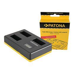 Patona USB LCD Triple Charger punjač za Canon LP-E17 EOS 800D, 760D, 750D, Kiss X8i, Rebel, Rebel T6i, Rebel T6s, T6i, T6s