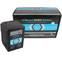 Patona V-Mount Platinum Nano V145 9600mAh 142Wh 14.8V baterija za Red Arri Sony DSR 250P 600P 650P 652P HDW 800P PDW 850 BP-150w BP150w, BPFL75, BP-FL75, BPFLX75, BP-FLX75, BPL40A, BP-L40A, BPL60