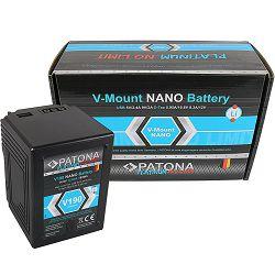 Patona V-Mount Platinum Nano V190 12000mAh 189Wh 14.8V baterija za Red Arri Sony DSR 250P 600P 650P 652P HDW 800P PDW 850 BP-150w BP150w, BPFL75, BP-FL75, BPFLX75, BP-FLX75, BPL40A, BP-L40A, BPL60