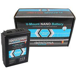 Patona V-Mount Platinum Nano V50 3200mAh 47Wh 14.8V baterija za Red Arri Sony DSR 250P 600P 650P 652P HDW 800P PDW 850 BP-150w BP150w, BPFL75, BP-FL75, BPFLX75, BP-FLX75, BPL40A, BP-L40A, BPL60