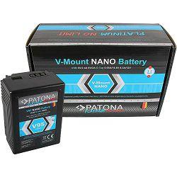 Patona V-Mount Platinum Nano V95 6400mAh 95Wh 14.8V baterija za Red Arri Sony DSR 250P 600P 650P 652P HDW 800P PDW 850 BP-150w BP150w, BPFL75, BP-FL75, BPFLX75, BP-FLX75, BPL40A, BP-L40A, BPL60