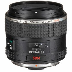 Pentax 55mm f/2.8 Standardni objektiv fiksne žarišne duljine prime lens SMC D-FA 645 (26350)