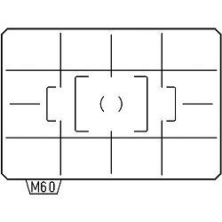 Pentax AF Divided Matte ML-60 AF Cross-lined Matte Focusing Screen