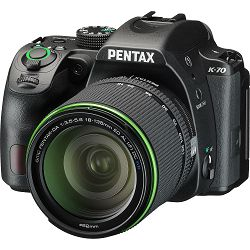 Pentax K-70 + 18-135mm f/3.5-5.6 ED AL (IF) DC WR Black KIT DSLR Crni Digitalni fotoaparat SMC DA 18-135WR 18-135 f3.5-5.6 3.5-5.6 (16255)