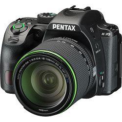 Pentax K-70 + 18-135mm f/3.5-5.6 ED AL (IF) DC WR Black KIT DSLR Crni Digitalni fotoaparat SMC DA 18-135WR 18-135 f3.5-5.6 3.5-5.6 (16255)