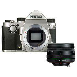 Pentax KP + 18-50mm f/4-5.6 DC WR RE Silver KIT DSLR Srebreni Digitalni fotoaparat HD DA 18-50 f/4.0-5.6 f4-5.6 4-5.6 (1603700)