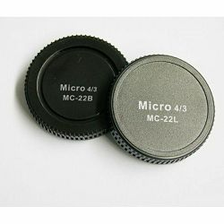 Pixel Lens Rear Cap MC-22B + Body Cap MC-22L for Olympus Panasonic MFT Micro Four Thirds poklopac za tijelo fotoaparata i objektiv