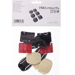 PRO-mounts Flat & Curved Mounts komplet nosač podloške za GoPro akcijske kamere