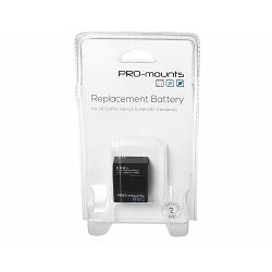 PRO-mounts Li-Ion Akku 1180mAh baterija za GoPro HERO 3 i 3+