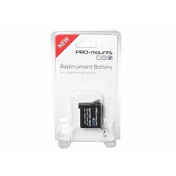 PRO-mounts Li-Ion Akku 1180mAh baterija za GoPro HERO 4