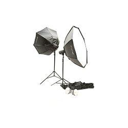 Quadralite komplet studijska rasvjeta 2x 300Ws bljeskalice + 2x Softbox Octa 120cm + 2x stalak 260cm