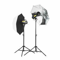 Quadralite Move X 200 KIT (2x Move 200Ws + 2x studijski stalak 200cm + 1x foto kišobran srebreni + 1x brolly box)