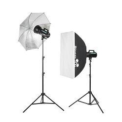Quadralite Move X 300 KIT (2x Move 300Ws + 2x studijski stalak 200cm + 1x foto kišobran srebreni + 1x softbox)