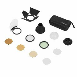 Quadralite Reporter 200 TTL Round Head Accessory Kit