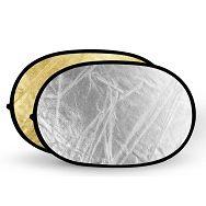 Quantuum dosvjetljivač 2u1 125x95cm zlatni srebreni reflektirajući 95x125cm