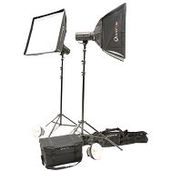 Quadralite komplet studijska rasvjeta 2x 300Ws bljeskalice + 2x Softbox 60x60cm + 2x stalak 260cm