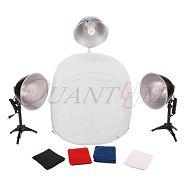Quadralite Quantuum LH-35 komplet foto šator 60x60 + 3x žarulje + 3x stalak
