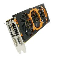 R9 280X 3G GDDR5 PCI-E DL-DVI-I+SL-DVI-D / HDMI / DUAL MINI DP TRI-X OC VERSION (UEFI) , 1000MHz (1100MHz) / 1600M, 384-bit, 2 slot active, FULL