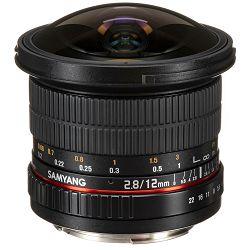 Samyang 12mm f/2.8 ED AS NCS Fisheye objektiv za Canon EF Full Frame Fish-eye prime lens 1:2.8 F2.8 2.8