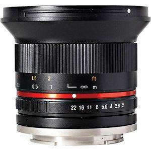 Samyang 12mm f/2 NCS CS Black ultra širokokutni objektiv za Canon EF-M EOS M mount