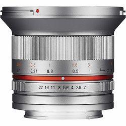 Samyang 12mm f/2 NCS CS Silver širokokutni objektiv za Olympus Panasonic MFT micro4/3