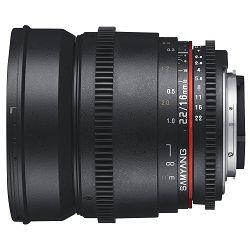 Samyang 16mm T2.2 VDSLR ED AS UMC CS za Nikon