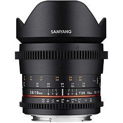 Samyang 16mm T2.6 VDSLR ED AS UMC CS širokokutni objektiv za Sony E-mount Full Frame