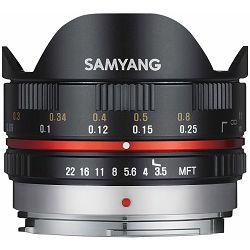 Samyang 7.5mm f3.5 UMC fisheye objektiv Black crni fish-eye fish eye za MFT micro m4/3