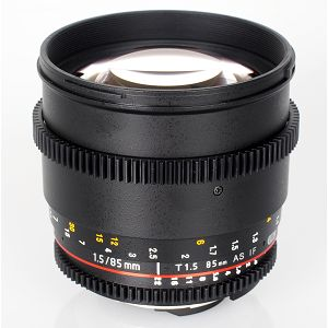 Samyang 85mm T1.5 VDSLR AS IF UMC II lens for Canon