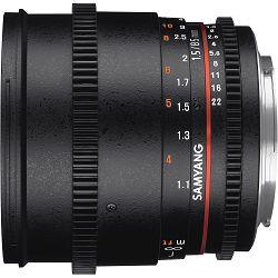 Samyang 85mm T1.5 VDSLR Portretni telefoto objektiv za Sony E-Mount