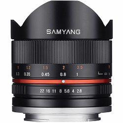Samyang 8mm f/2.8 UMC Fish-eye II za Canon M fisheye objektiv