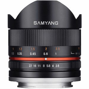 Samyang 8mm f/2.8 UMC Fisheye CS II Black objektiv za Sony E-Mount Fish-eye prime lens