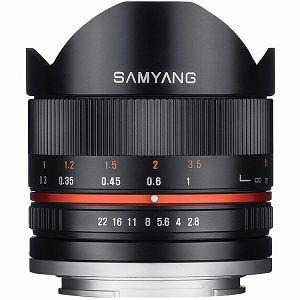 Samyang 8mm f/2.8 UMC Fisheye CS II Black objektiv za Sony E-Mount Fish-eye prime lens