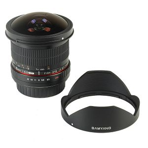 Samyang 8mm fisheye F3.5 Pentax CSII (Hood Detachable)