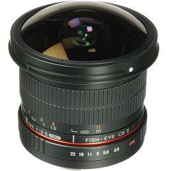 Samyang 8mm fisheye F3.5 Pentax CSII (Hood Detachable)