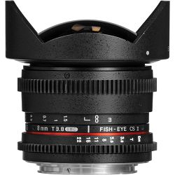 Samyang 8mm T3.8 VDSLR CS Diagonal Fish-eye Nikon