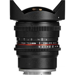 Samyang 8mm T3.8 VDSLR Fisheye CS II Black objektiv za Sony E-Mount Fish-eye prime lens (Hood Detachable)