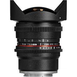 Samyang 8mm T3.8 VDSLR Fisheye CS II Black objektiv za Sony E-Mount Fish-eye prime lens (Hood Detachable)