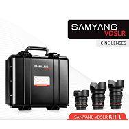 Samyang VDSLR Kit 1 = 14mm T3.1 + 24mm T1.5 + 35mm T1.5 + kofer za objektive za Nikon