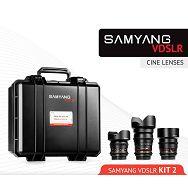 Samyang VDSLR Kit 2 = 14mm T3.1 + 85mm T1.5 + 35mm T1.5 + kofer za objektive za Canon