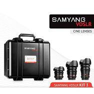 Samyang VDSLR Kit 3 = 8mm T3.8 + 16mm T2.2 + 35mm T1.5 + kofer za objektive za Sony E mount